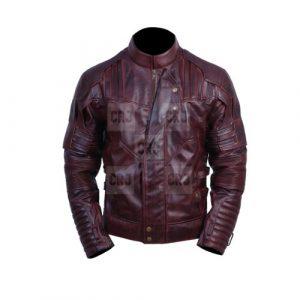 Infinity War Faux Leather Jacket