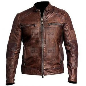 Vintage Distressed Brown Biker's Leather Jacket