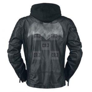 Batman Biker Jacket with Removable Hoodie
