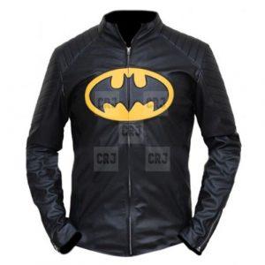 Batman Black Biker Faux Leather Jacket