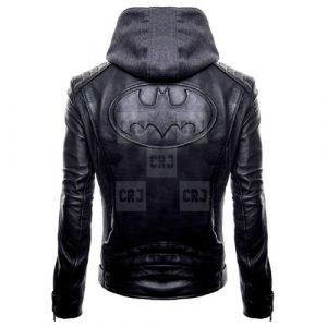 Batman Hoodie Real Leather Jacket