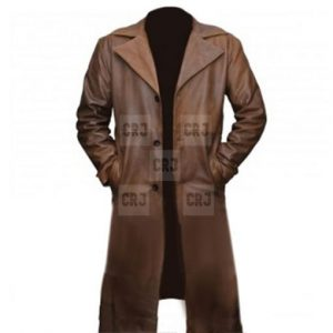 Dawn Of Justice Leather Trench Coat