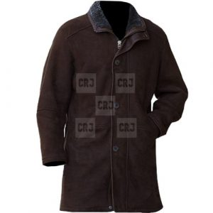 Brown Longmire Real Leather Coat