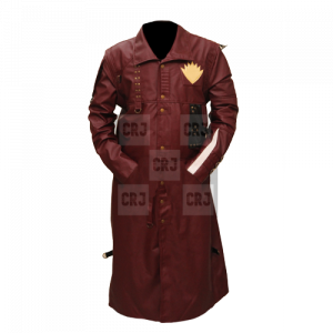 Guardians Of The Galaxy Faux Leather Long Coat