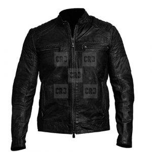 Cafe Racer Vintage leather Jacket