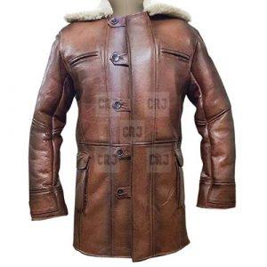 Faux Shearling Costume Bane Coat