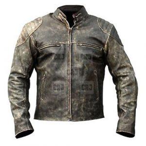 Vintage Distressed Biker Leather Jacket