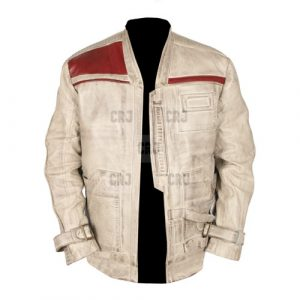 Star Wars White Genuine Waxed Leather Jacket