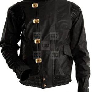 Akira Kaneda Anime Vintage Black Leather Jacket With Capsule