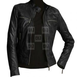 Attractive & Stylish Black Biker Slim Fit Leather Jacket