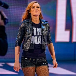 Becky Lynch Black Women Slim Fit Leather Jacket