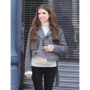 Anna Kendrick Love Life Grey Wool Slim Fit Jacket
