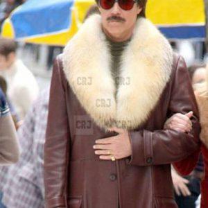 Anchorman 2 Fur Collar Men Winter Leather Coat