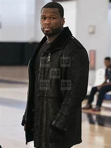 50 Cent Jackson Kanan Black Men's Leather Fur Winter Lining Coat