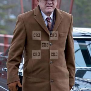 Gotham Carmine Falcone Mens Brown Wool Winter Coat