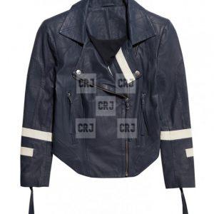 Agents of Shield Chloe Bennet Blue Leather Jacket