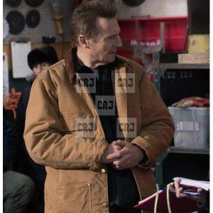 Cold Pursuit Liam Neeson Khaki Cotton Bomber Jacket
