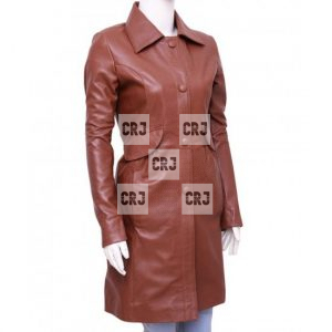 Doctor Who Donna Noble Brown Women Winter Overcoat
