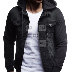WWE Dean Ambrose Black Denim Hoodie Slim Fit jacket
