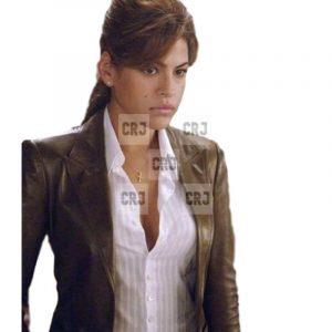Eva Mendes Ghost Rider Brown Slim Fit Casual Jacket