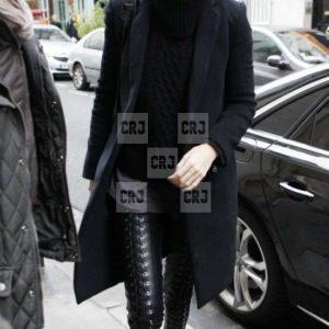 Gigi Hadid Black Everyday Wear Wool Trench Coat