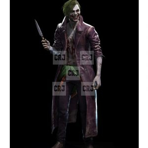Joker Injustice 2 Real Distressed Leather Long Over Coat