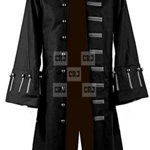 Jack Sparrow Johnny Depp Black & Brown Cotton Trench Coat
