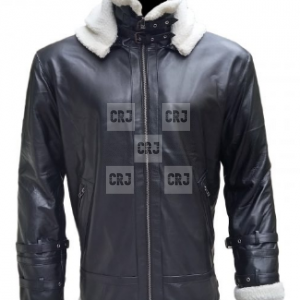 B3 Bomber Sheepskin with Removable Hood Jacket