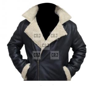 Rocky Balboa Sylvester Stallone Fur Black Leather Jacket