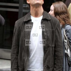 Tom Cruise Casual Black Suede Leather Biker Jacket