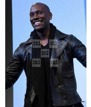 Tyrese Gibson Fast And Furious Mens Black Leather Jacket